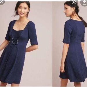 NWT Anthropologie Maeve navy Juliet dress